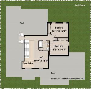 Adair Florida house plan 2nd floor