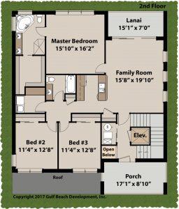 Island Bay Coastal House Plan 2nd Floor