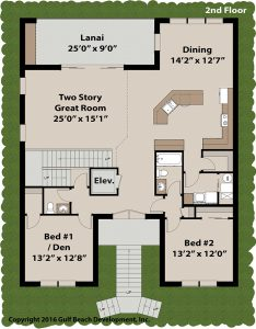 Harbor View House Plan 2nd Floor