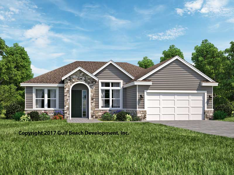 Grandview florida house plan david christ associates for Florida ranch house plans