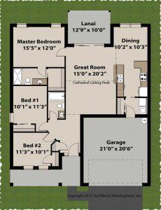 Royal Oaks Insulated Concrete Form home plans floor plan