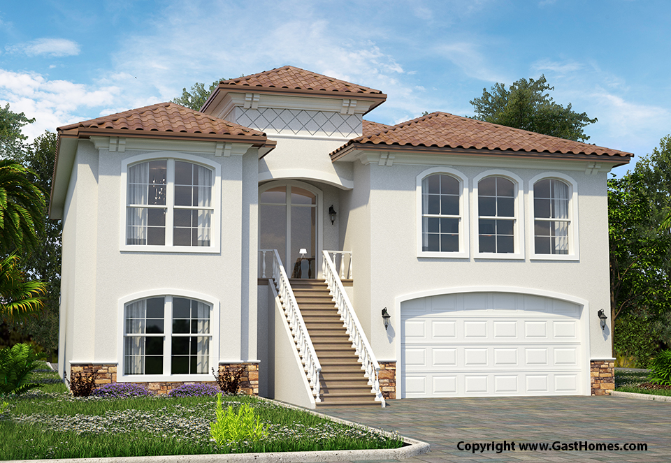 Sunset bay florida house plan david christ associates for Sunset house plans