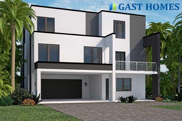 Coastal Collection House Plan Multi-level