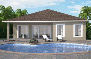 Spring Ridge ICF home plans Rear