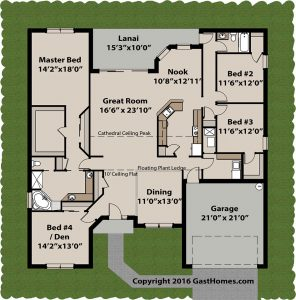 Highlands Ranch home plan 1st floor