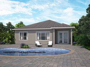 Summerport ICF house plan rear